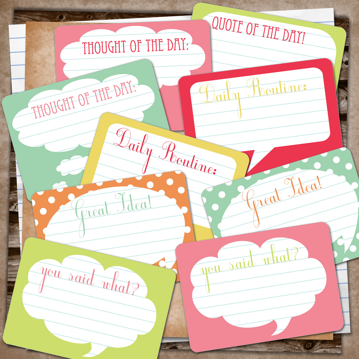 9 Images of Smash Journaling Printables
