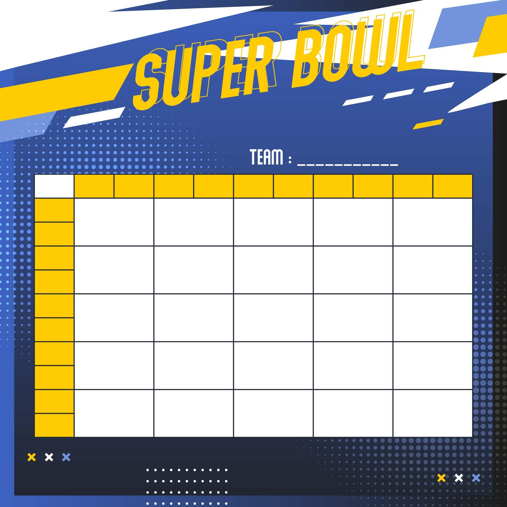 Super Bowl Pool 25 Square