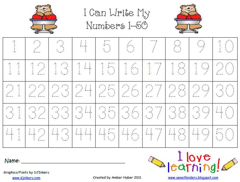 5 Images of Number Practice Pages Printable