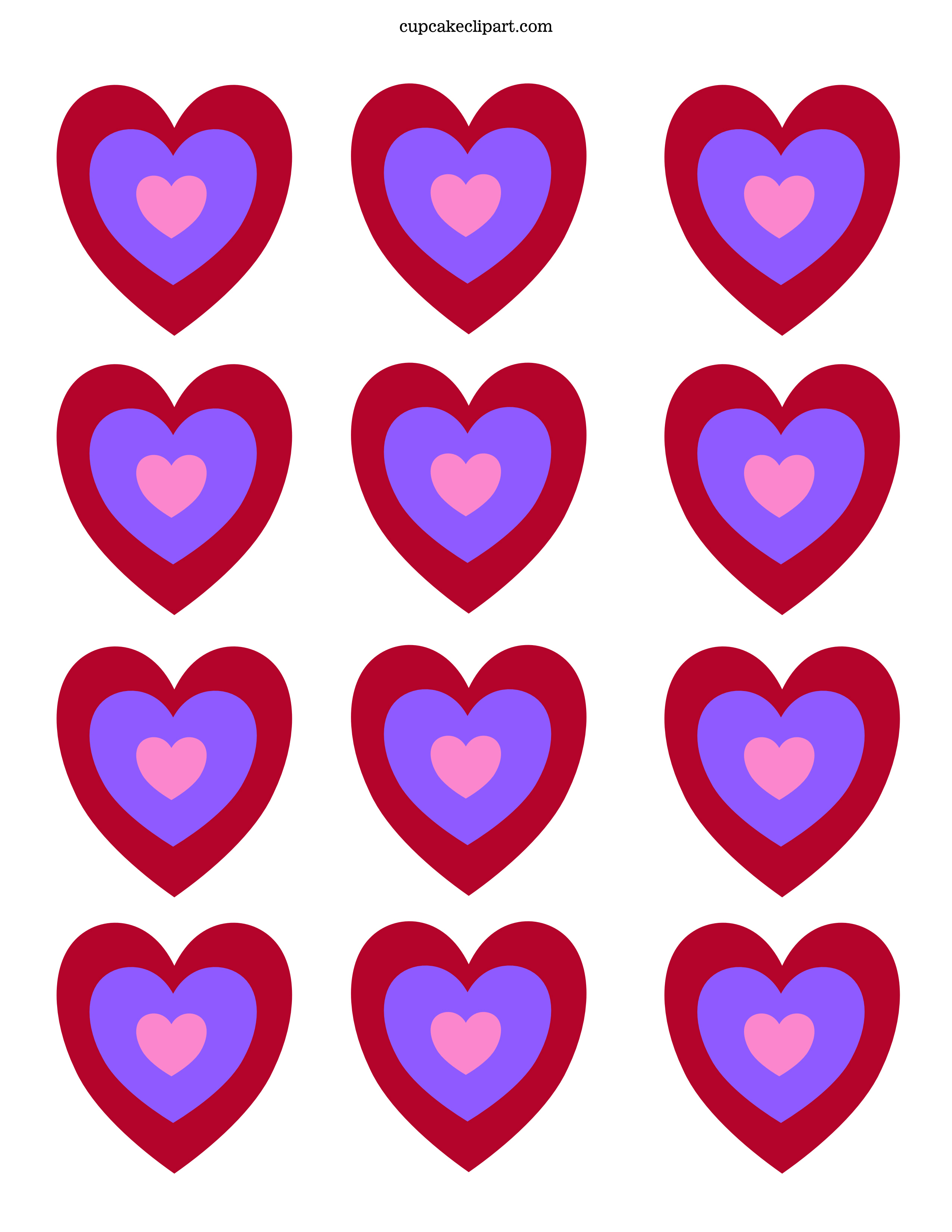 7 Images of Free Printable Valentine Day Hearts