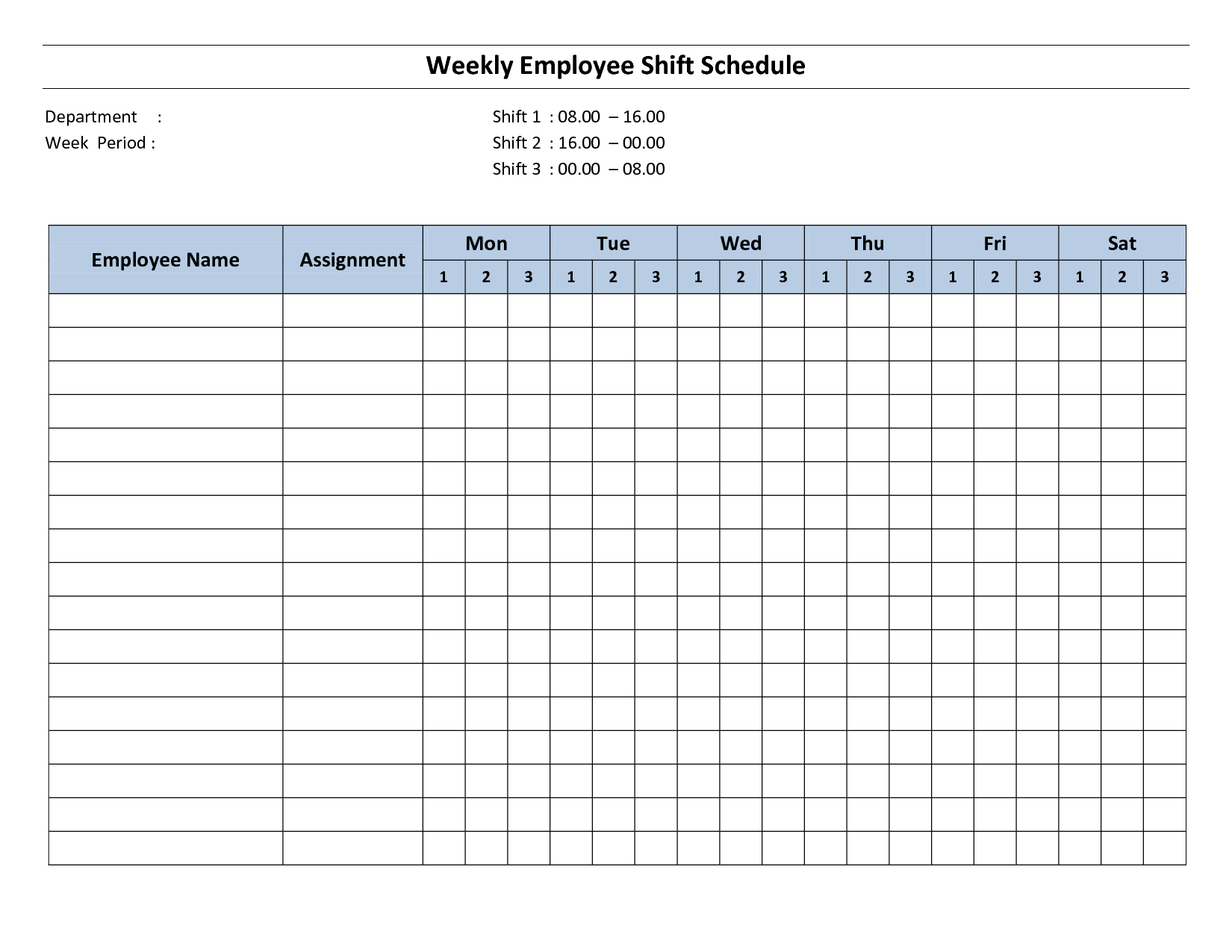 9 best images of free printable weekly employee schedule blank weekly work schedule template. Black Bedroom Furniture Sets. Home Design Ideas