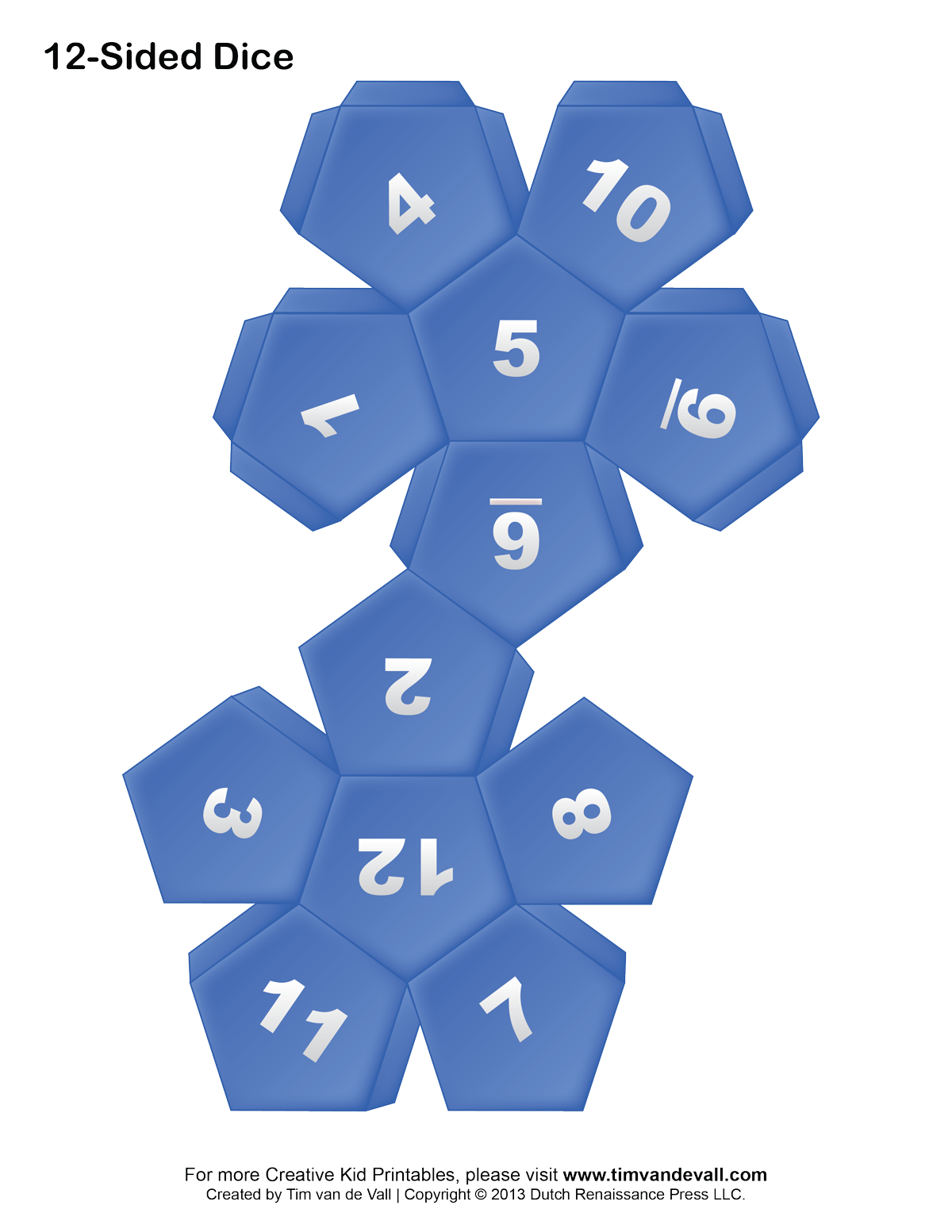 9 Images of Printable 12-Sided Dice