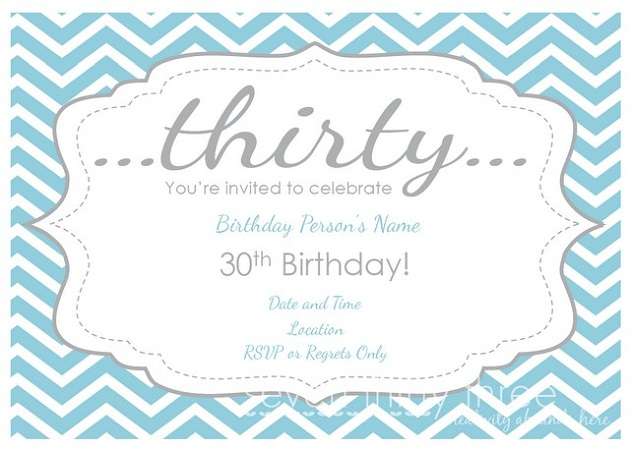 8 Images of 30th Birthday Invitations Free Printable