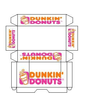 8 Images of Miniature Dollhouse Printables Dunkin And Donuts