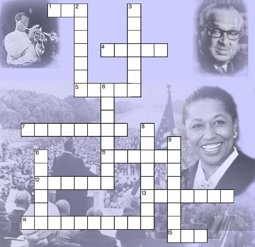 4 Images of Black History Crossword Puzzle Printable