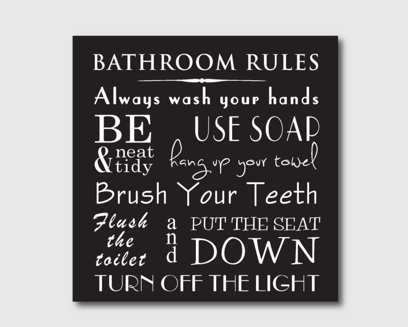 Black White Bathroom Art Prints