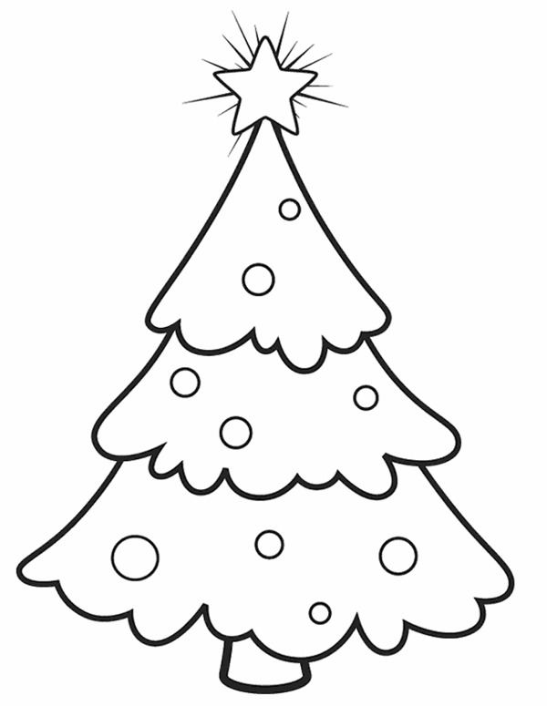 christmas tree outline coloring pages - photo#16