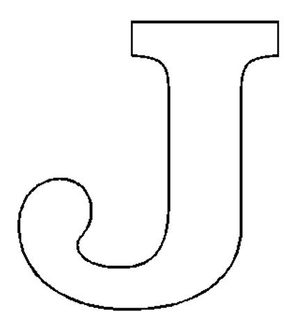 7 best images of printable block letter j printable for Letter j template preschool