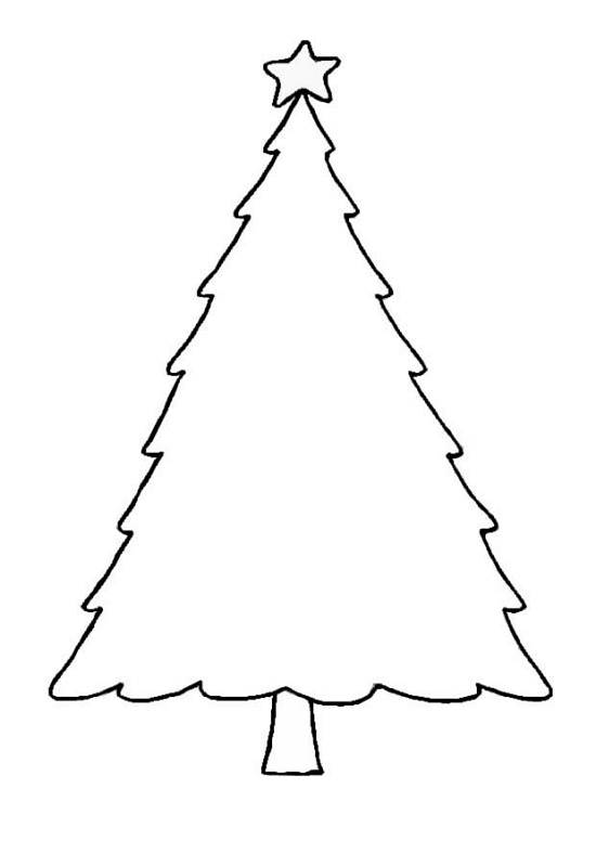 5 Images of Printable Blank Christmas Tree