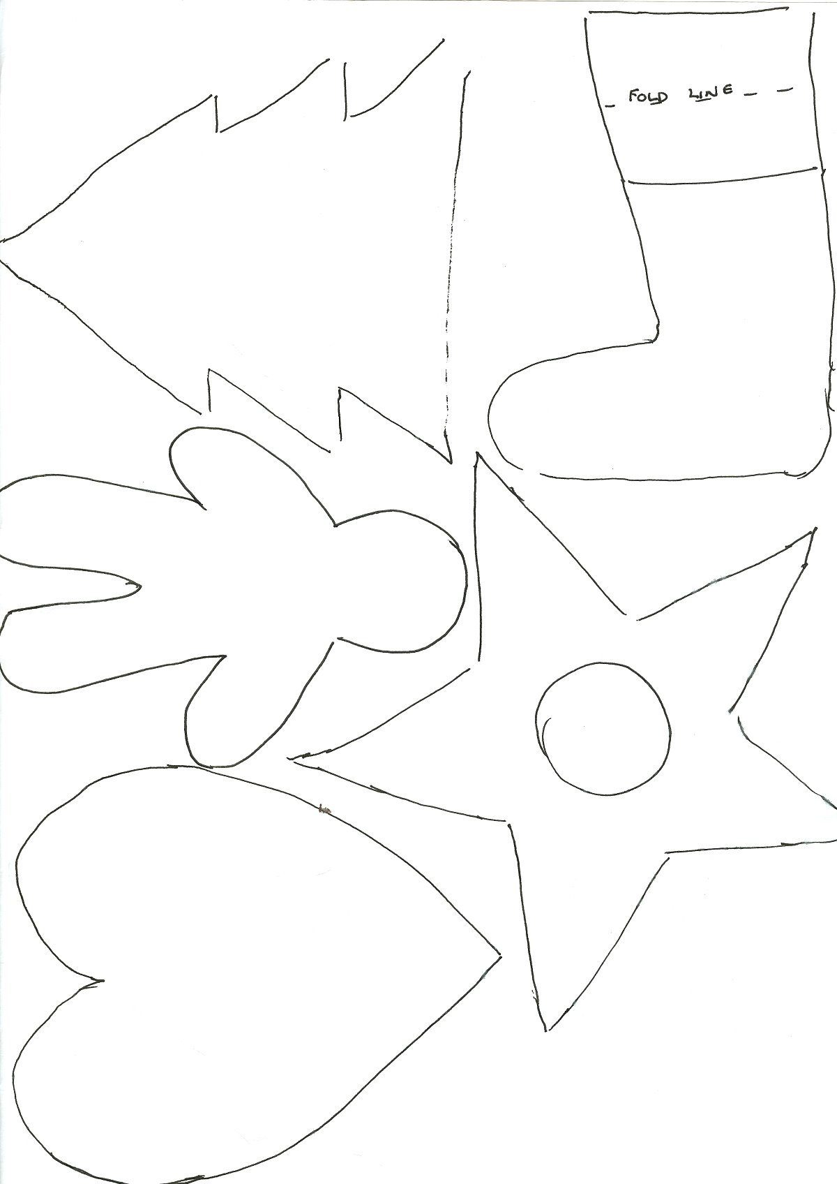 Christmas Tree Ornament Patterns Cut Out