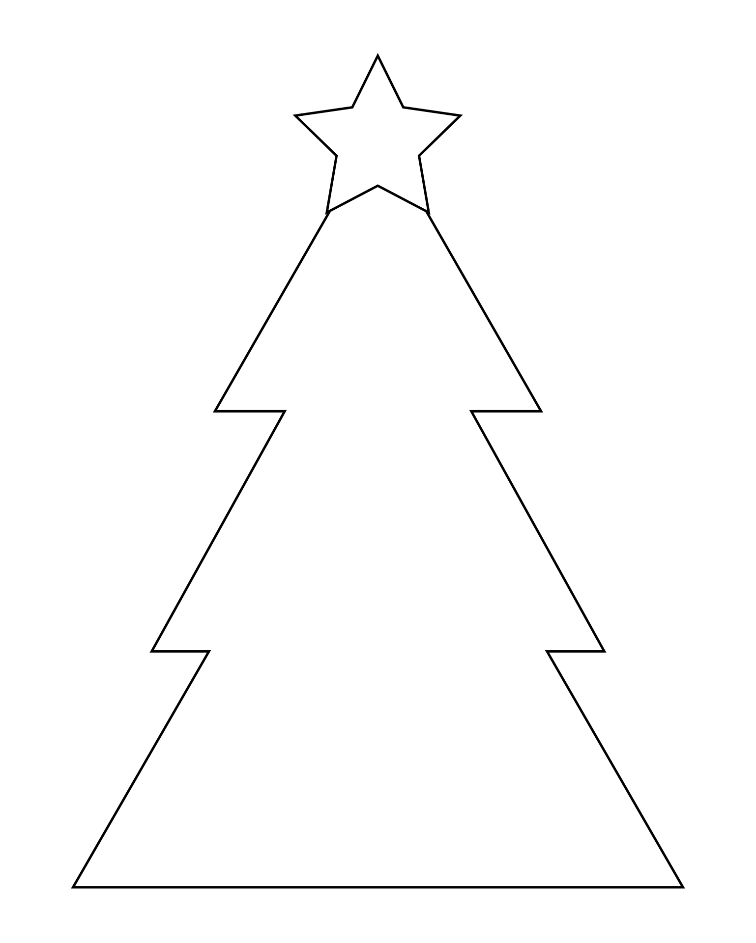 Christmas Tree Template Printable