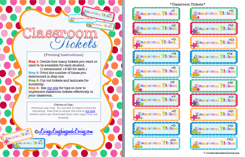 Classroom Reward Ideas For Middle School : Best images of school free printable tickets