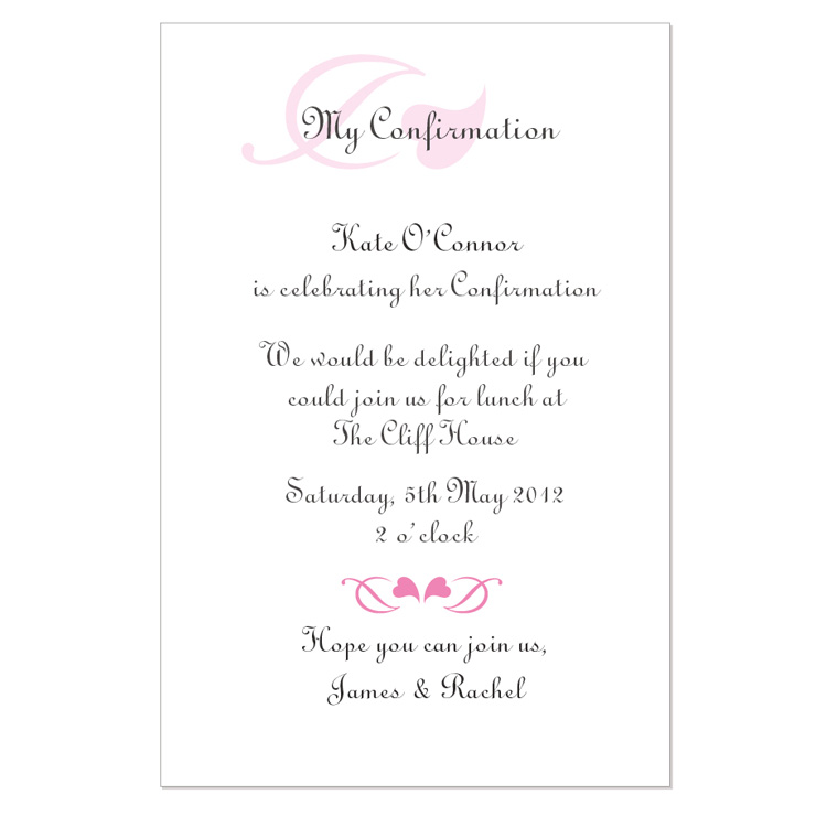free printable confirmation invitations template 6 best images of free printable confirmation invitation
