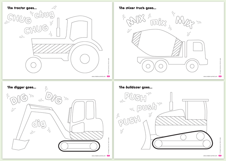 4 Images of Free Printable Construction Vehicles