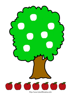 4 Images of Apple Tree Printable