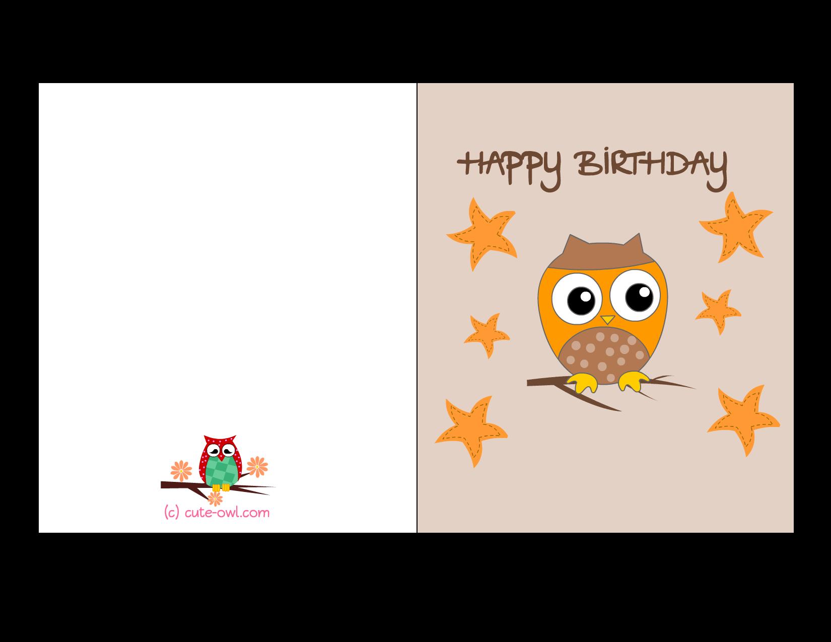Cute Free Printable Birthday Cards