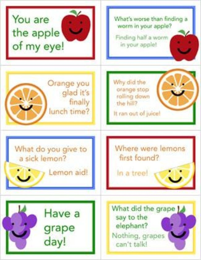 7 Images of Lunch Box Love Notes For Kids Printables