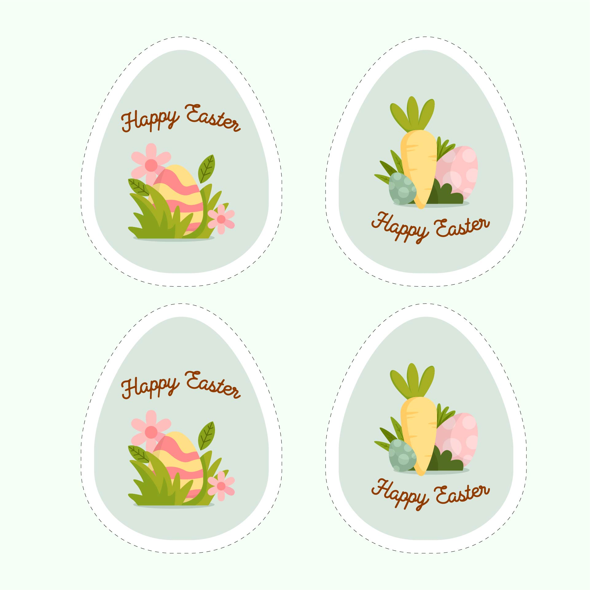 easter name tags template - 5 best images of printable easter labels free printable