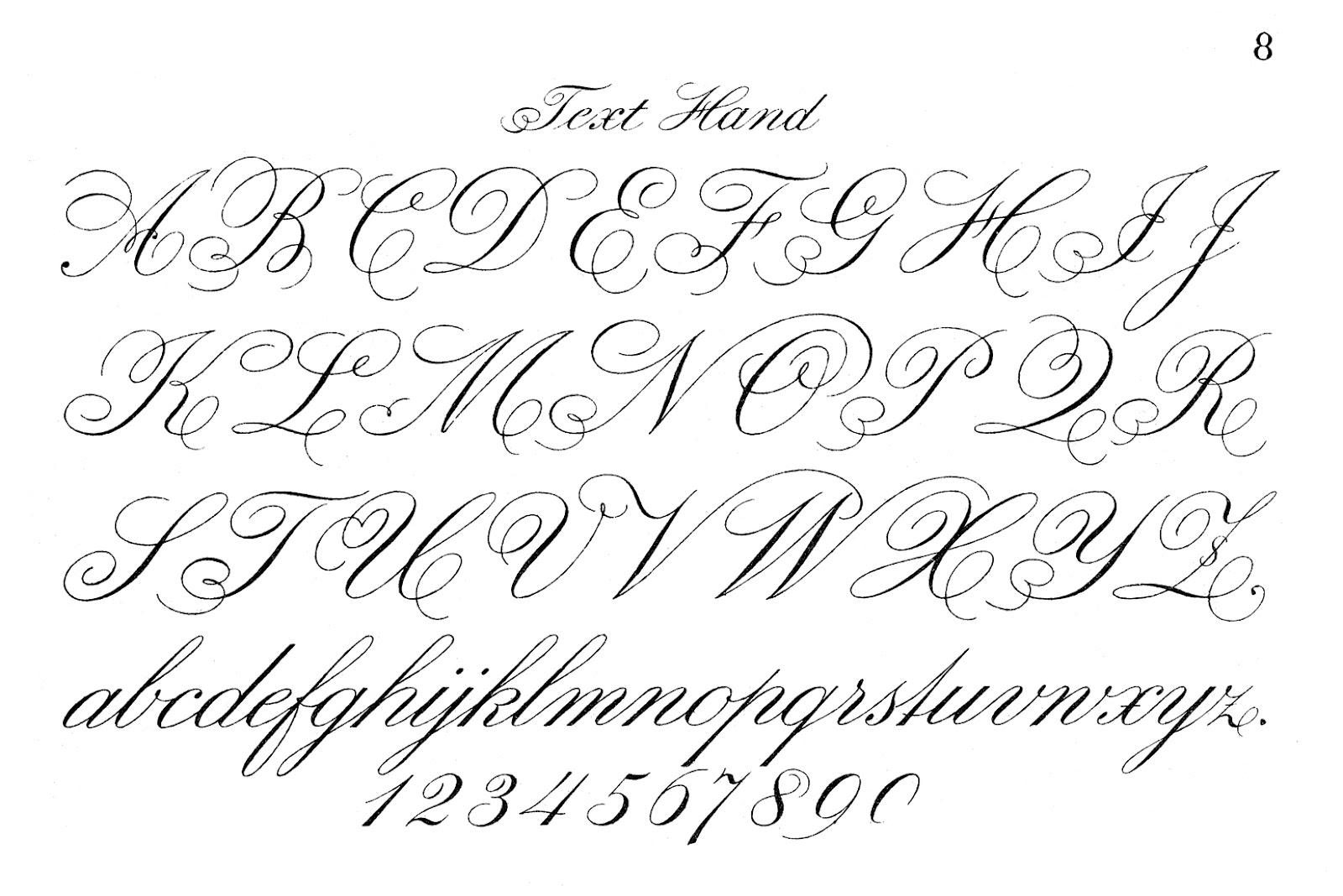 4 Images of Printable Script Alphabet