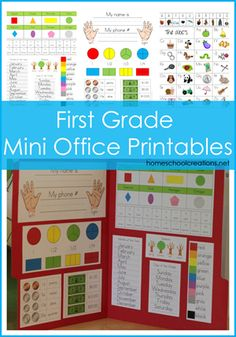 7 Images of Mini Office Printables For 2nd Grade