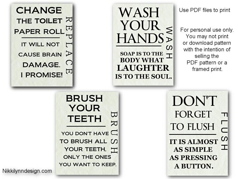 4 Images of Free Bathroom Printables Design
