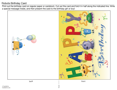 5 Images of Printable Birthday Cards