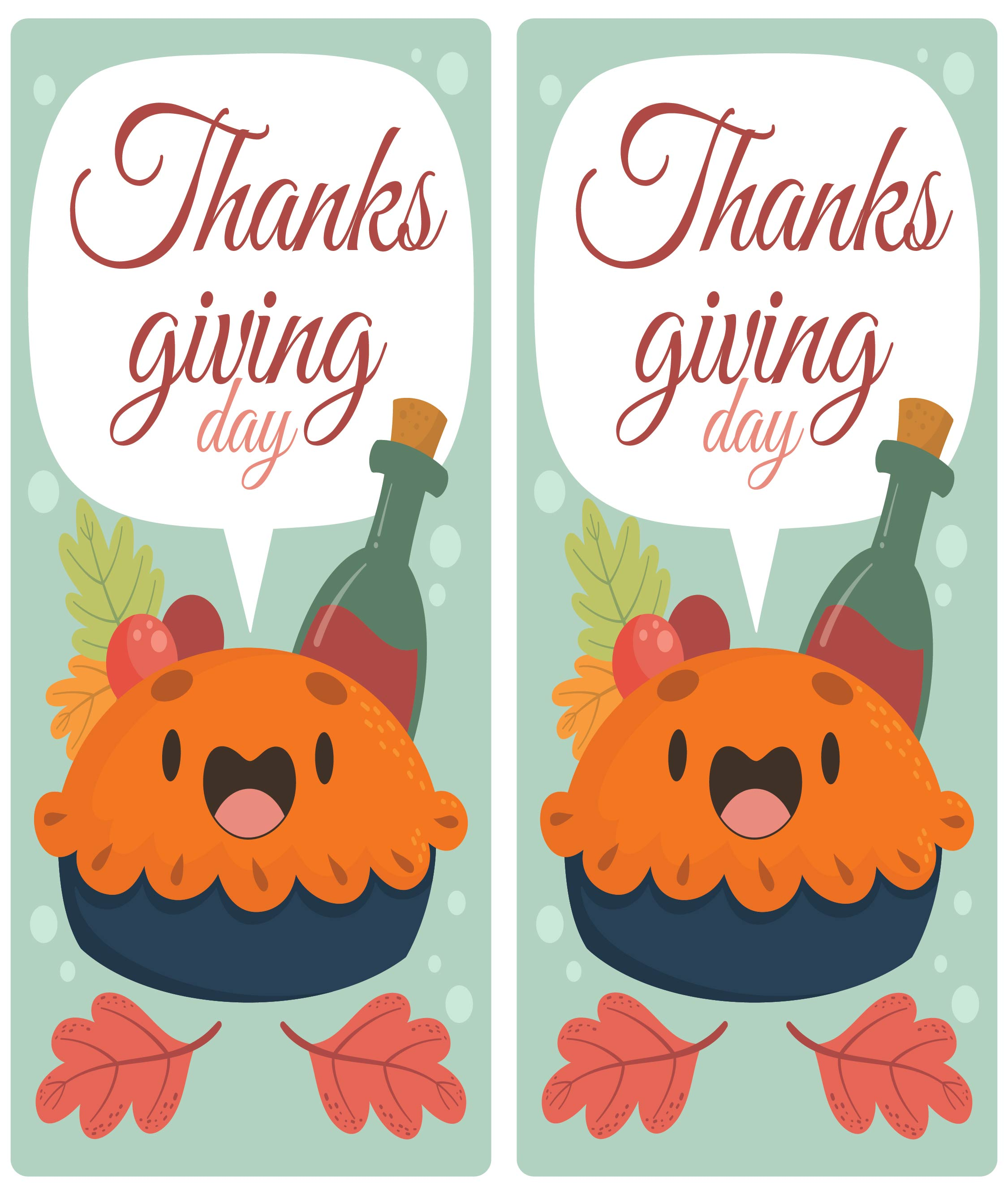 5 Images of Printable Thanksgiving Bookmarks