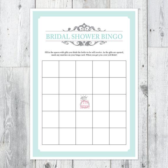 8 Images of Bridal Shower Bingo Card Printable