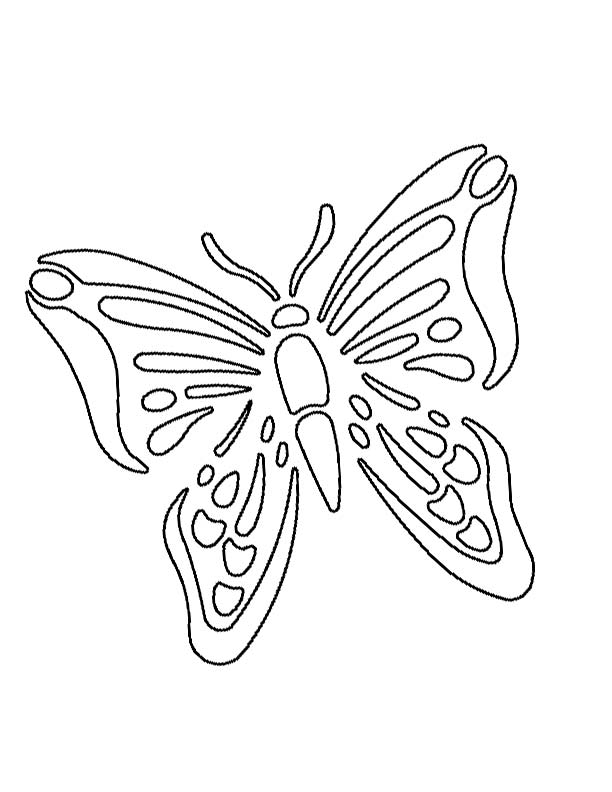 7 Images of Printable Butterfly Stencil Templates
