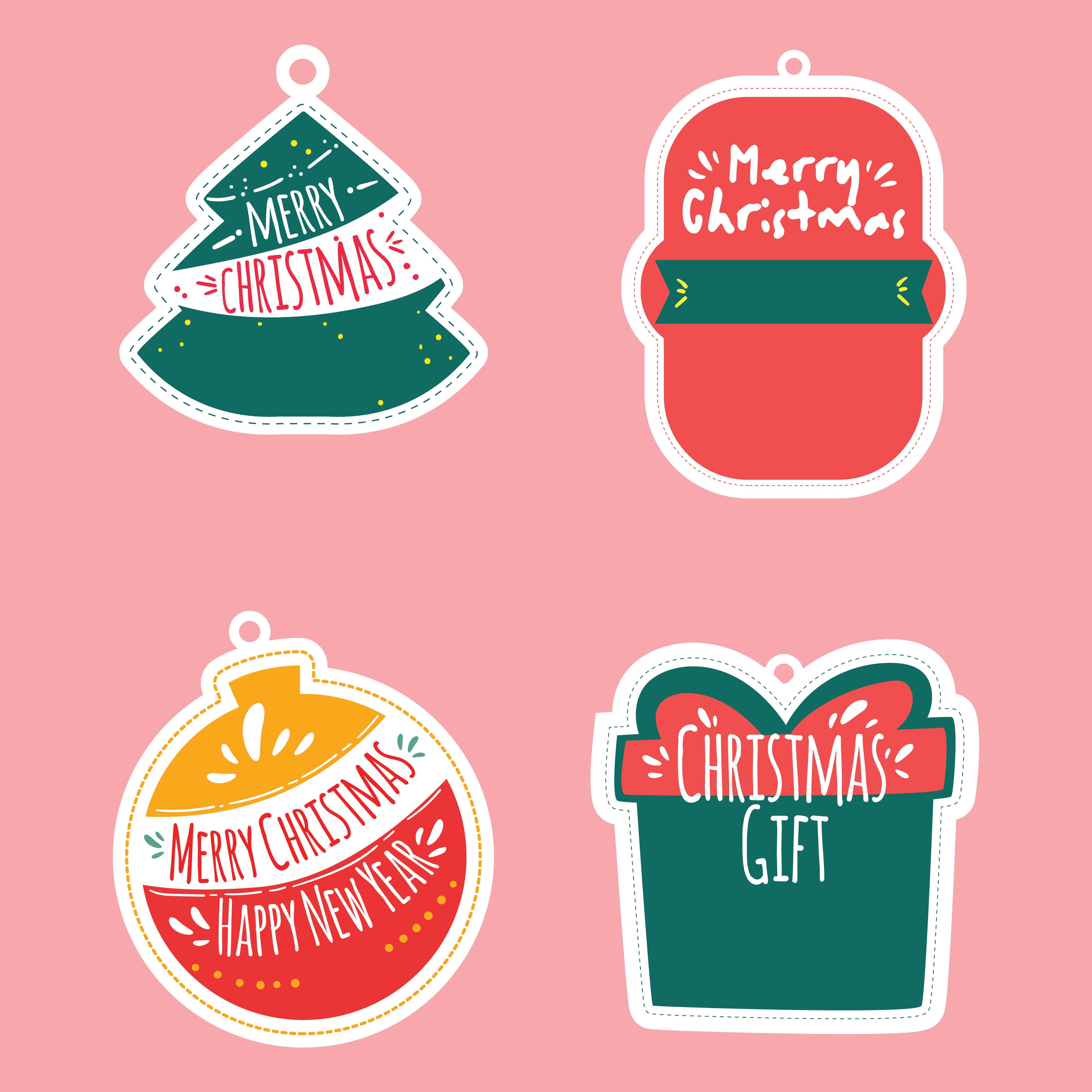 4 Images of Free Printable Christmas Stickers