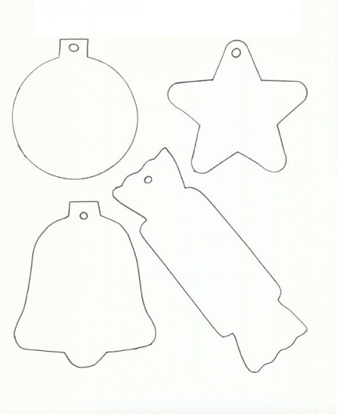 5 Images of Printable Christmas Templates To Color