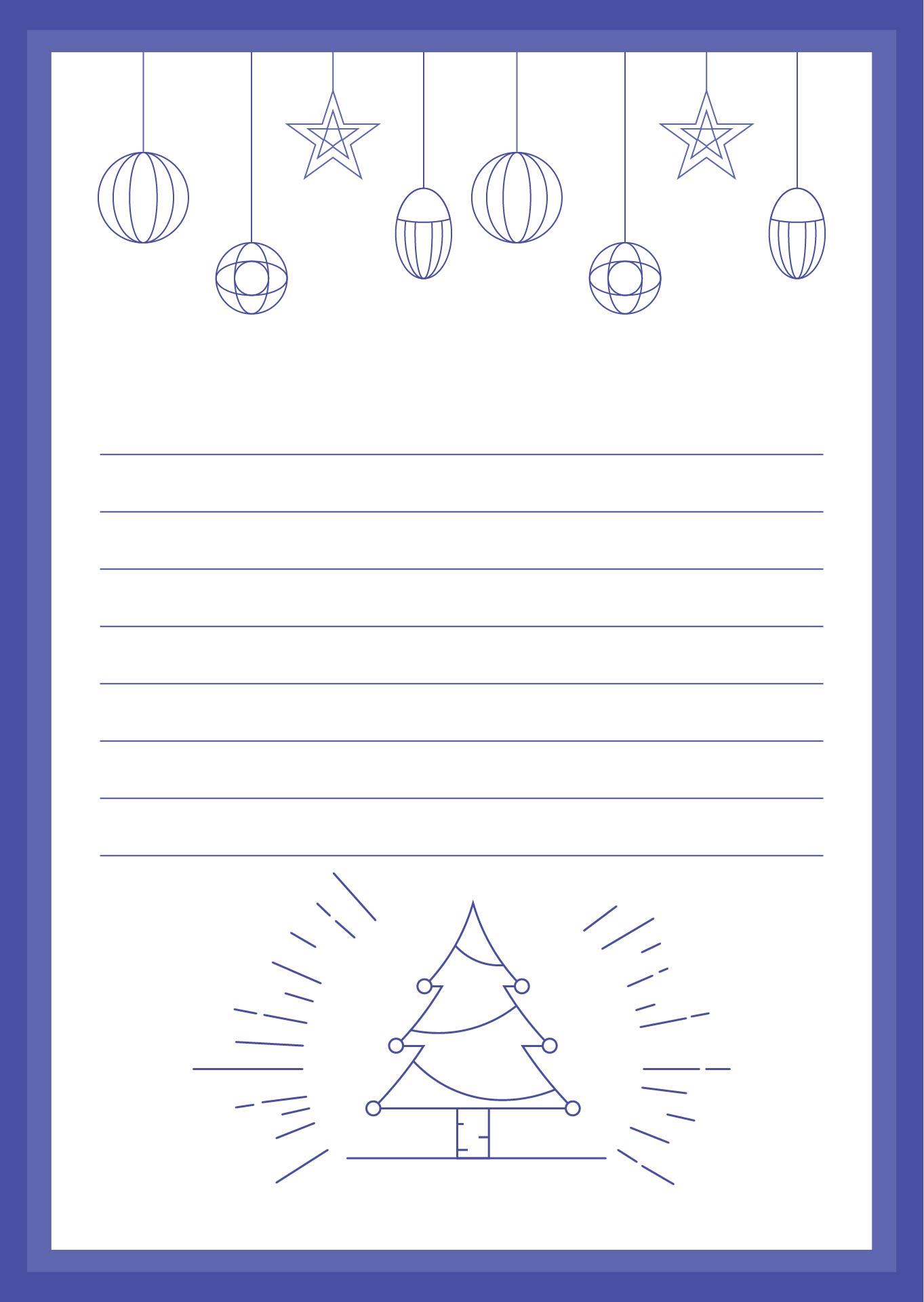 Printable Christmas Stationery