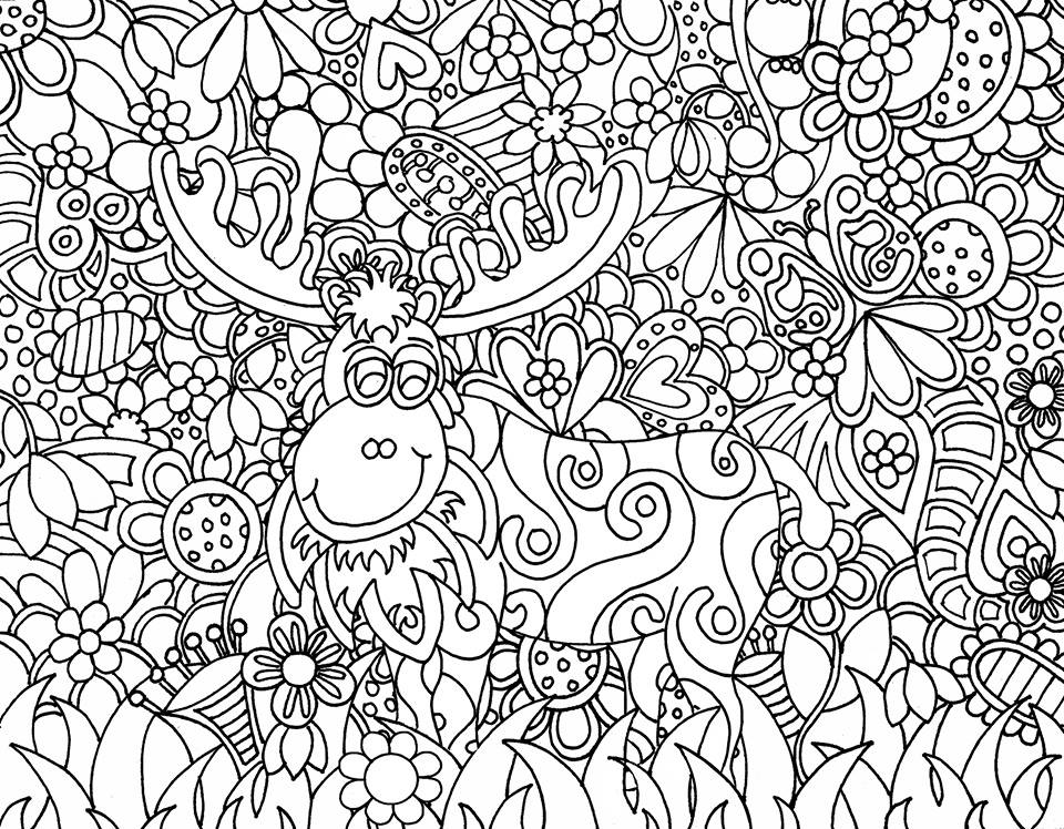 6 best images of zen art coloring pages printable for Free doodle art coloring pages