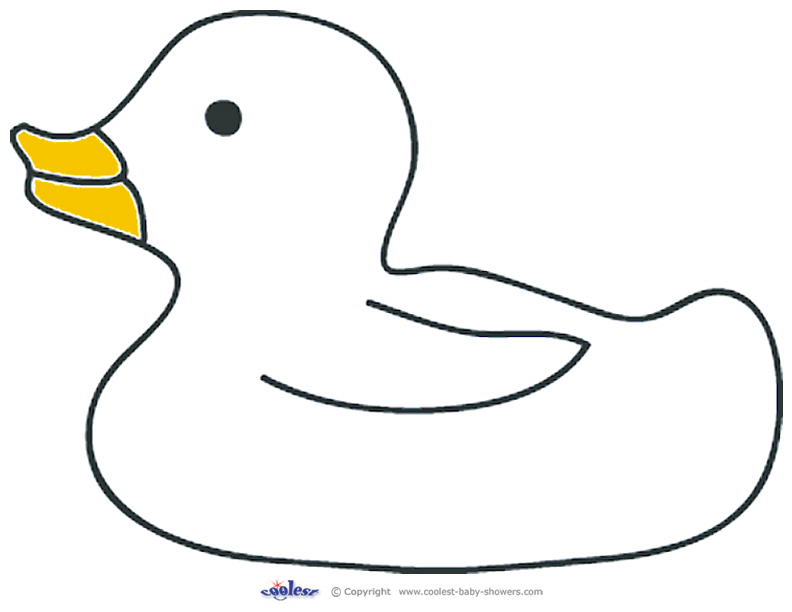 Free Rubber Ducky Coloring Pages