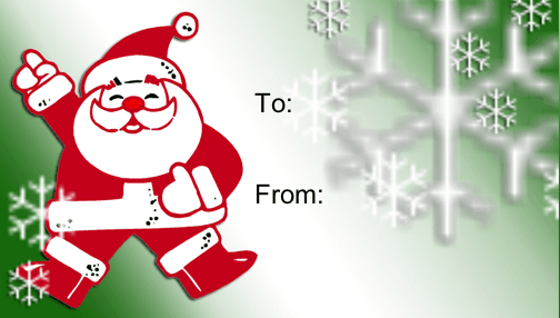 6 Images of Printable Santa Claus Gift Tags