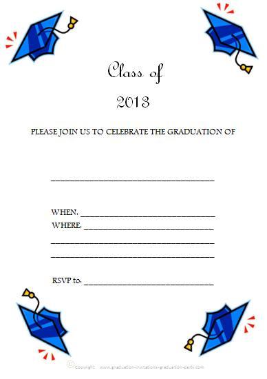 Free Printable Graduation Invitations 2013