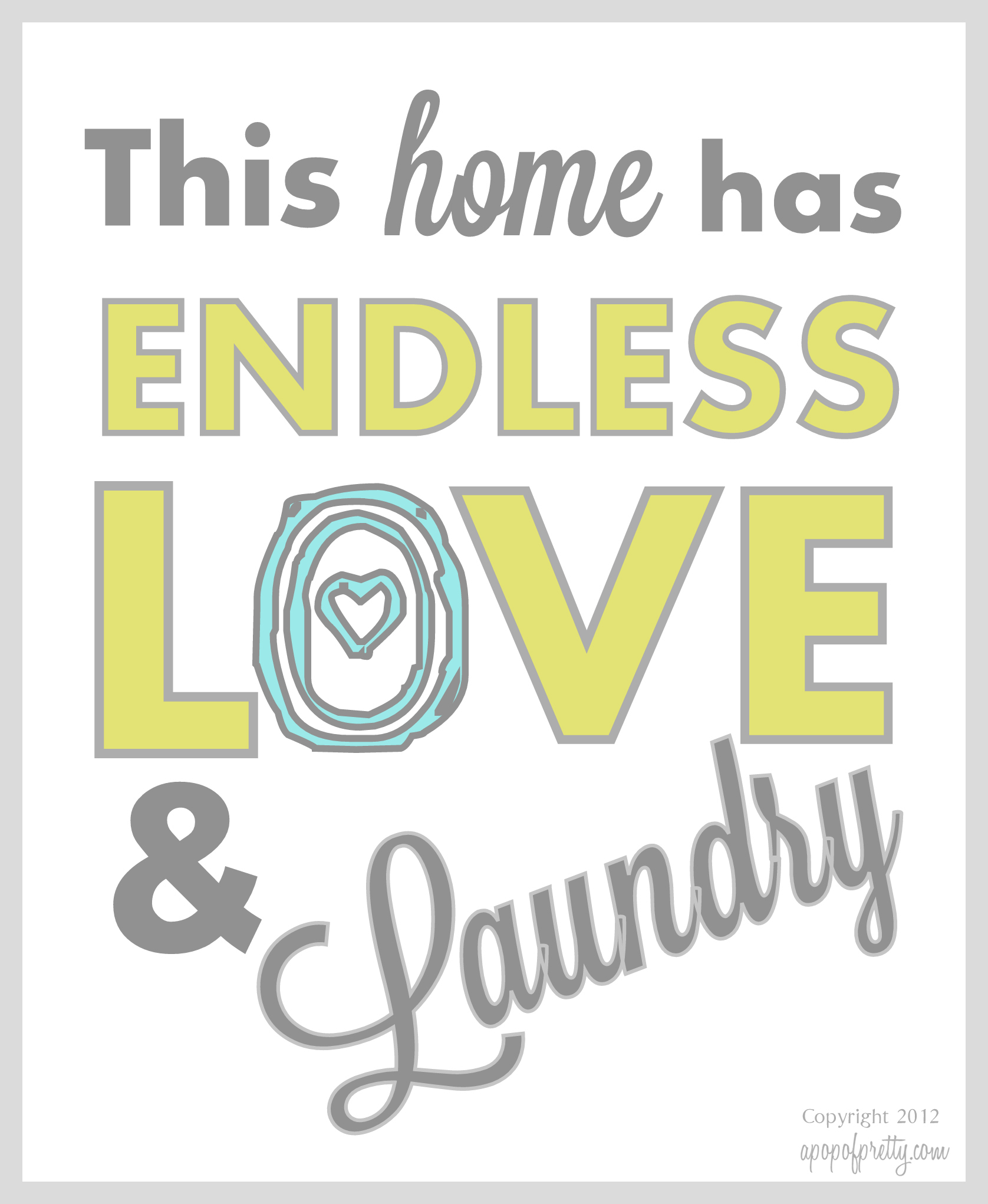 Free Printable Laundry
