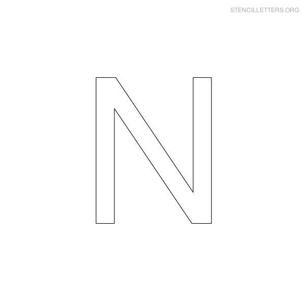 Free Printable Letter Stencils N