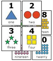 7 Images of Printable Number Cards 10-20
