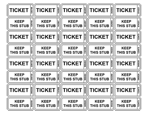 7 Images of Free Printable Ticket Templates With Numbers