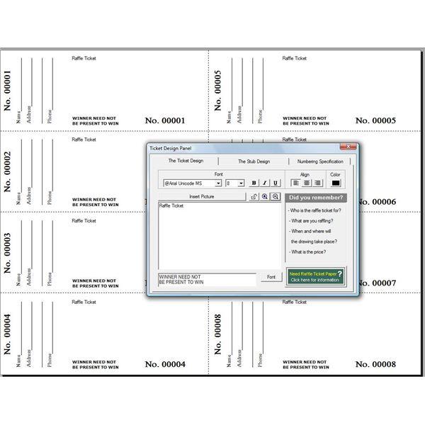 Doc500386 Printable Raffle Ticket Template Free free – Free Printable Raffle Ticket Template