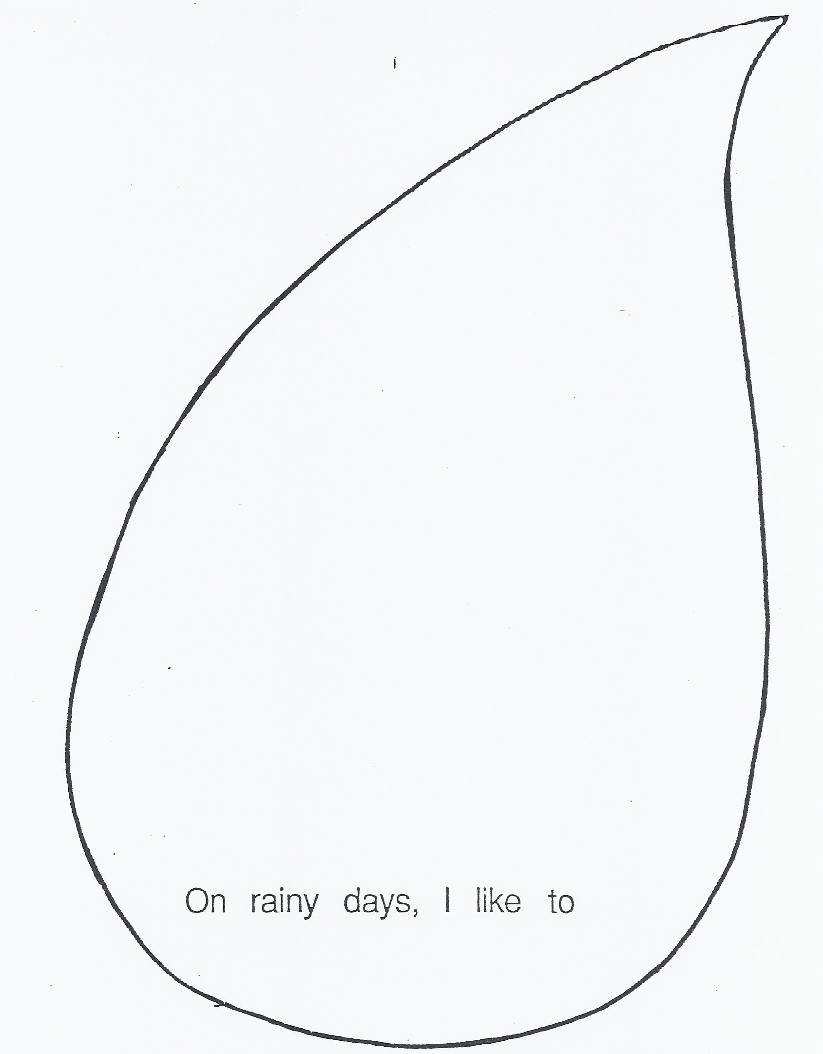 4 Images of Printable Raindrops Template