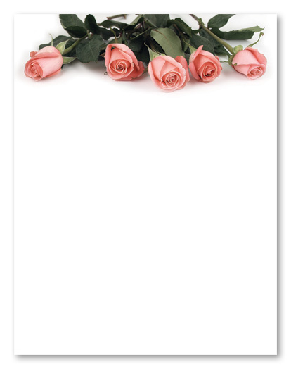 5 Images of Printable Stationery Paper Roses
