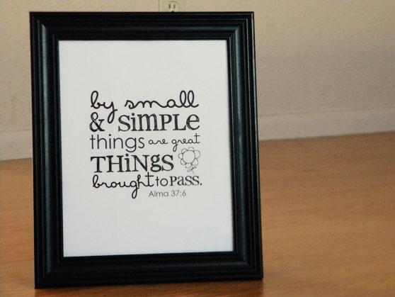 Free Printable Simple Things