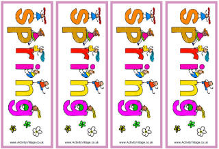 Free Printable Spring Bookmarks