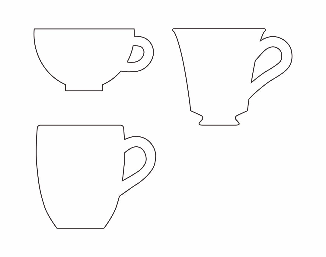 Printable Tea Cup Template