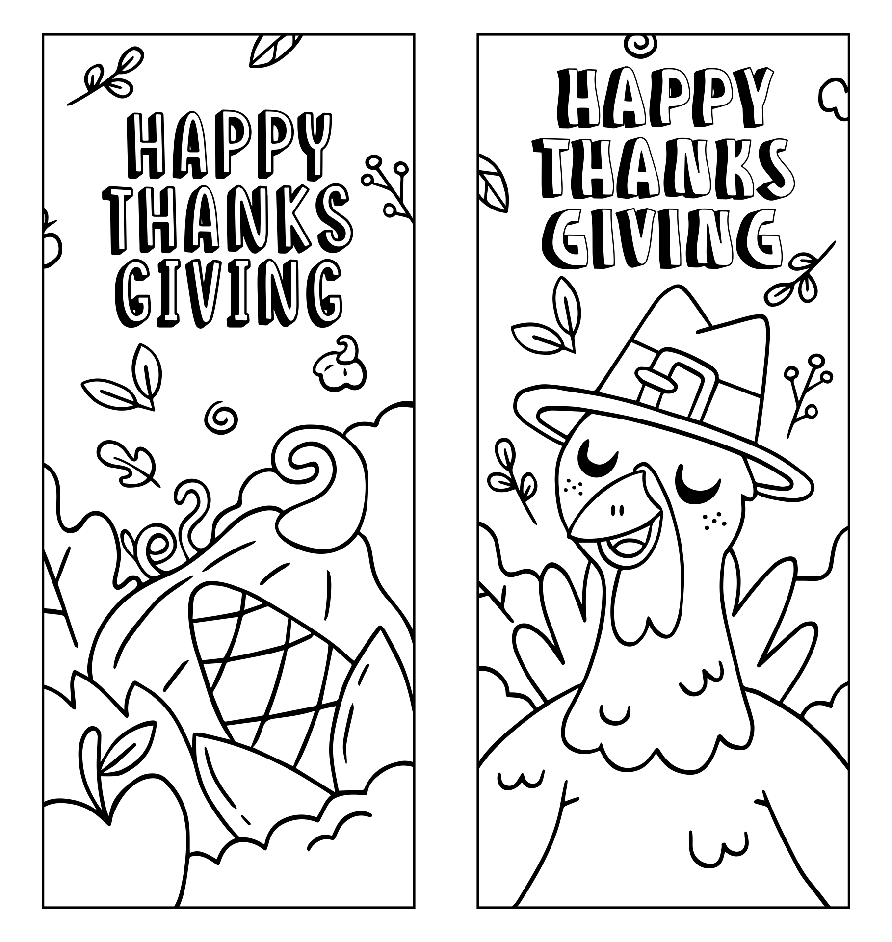 Free Printable Thanksgiving Bookmarks