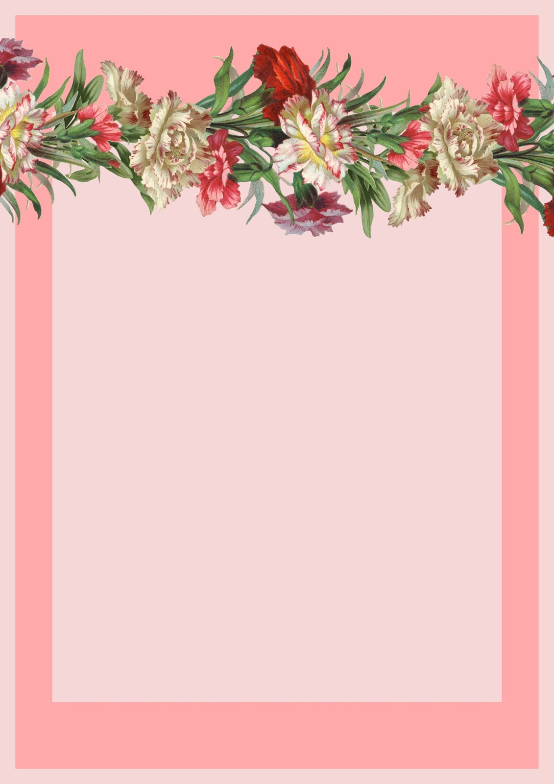 8 Images of Free Printable Flower Stationery