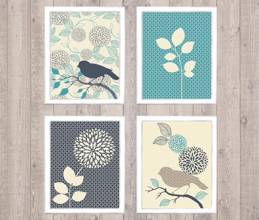 4 Images of Bird Wall Art Printables Free