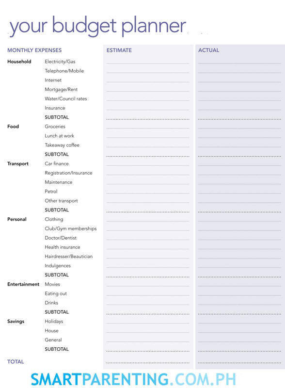 8 Best Images of Personal Budget Planner Printable ...